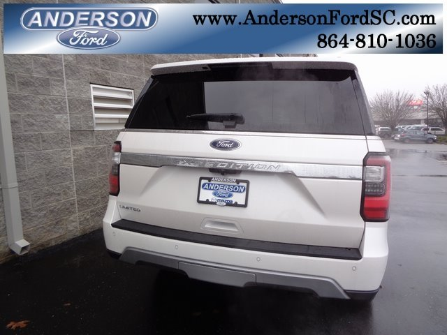 2019 White Metallic Ford Expedition Limited SUV EcoBoost 3.5L V6 GTDi DOHC 24V Twin Turbocharged Engine RWD