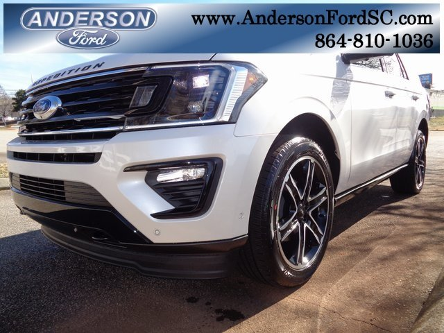 2019 White Metallic Ford Expedition Limited SUV EcoBoost 3.5L V6 GTDi DOHC 24V Twin Turbocharged Engine 4X4 Automatic