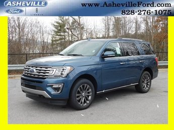 2019 Blue Metallic Ford Expedition Limited 4X4 Automatic EcoBoost 3.5L V6 GTDi DOHC 24V Twin Turbocharged Engine SUV