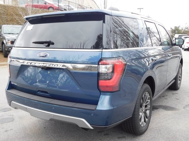 2019 Blue Metallic Ford Expedition Limited 4X4 Automatic SUV EcoBoost 3.5L V6 GTDi DOHC 24V Twin Turbocharged Engine 4 Door