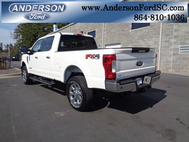 2019 White Ford Super Duty F-250 SRW Lariat 4 Door Truck Automatic Power Stroke 6.7L V8 DI 32V OHV Turbodiesel Engine 4X4
