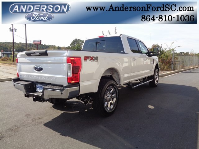 2019 White Ford Super Duty F-250 SRW Lariat Truck Automatic 4 Door Power Stroke 6.7L V8 DI 32V OHV Turbodiesel Engine