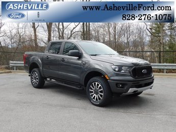 2019 Magnetic Metallic Ford Ranger XLT 4X4 Truck EcoBoost 2.3L I4 GTDi DOHC Turbocharged VCT Engine