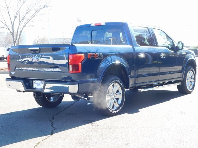 2019 Blue Ford F-150 Lariat Truck 4X4 4 Door Automatic EcoBoost 3.5L V6 GTDi DOHC 24V Twin Turbocharged Engine