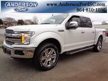 2019 White Metallic Ford F-150 Lariat EcoBoost 3.5L V6 GTDi DOHC 24V Twin Turbocharged Engine Automatic 4X4 4 Door Truck
