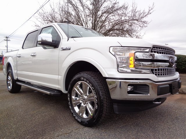 2019 White Metallic Ford F-150 Lariat 4X4 4 Door Automatic Truck