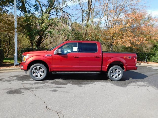 2018 Ruby Red Metallic Tinted Clearcoat Ford F-150 XLT Automatic EcoBoost 3.5L V6 GTDi DOHC 24V Twin Turbocharged Engine 4X4 Truck