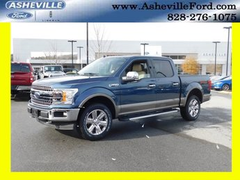 2018 Blue Ford F-150 Lariat Automatic EcoBoost 3.5L V6 GTDi DOHC 24V Twin Turbocharged Engine 4X4