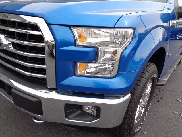 2016 Blue / Gray Ford F-150 XLT 4X4 4 Door EcoBoost 3.5L V6 GTDi DOHC 24V Twin Turbocharged Engine Automatic Truck