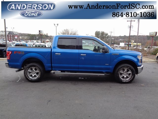 2016 Blue / Gray Ford F-150 XLT Truck EcoBoost 3.5L V6 GTDi DOHC 24V Twin Turbocharged Engine 4X4 4 Door Automatic