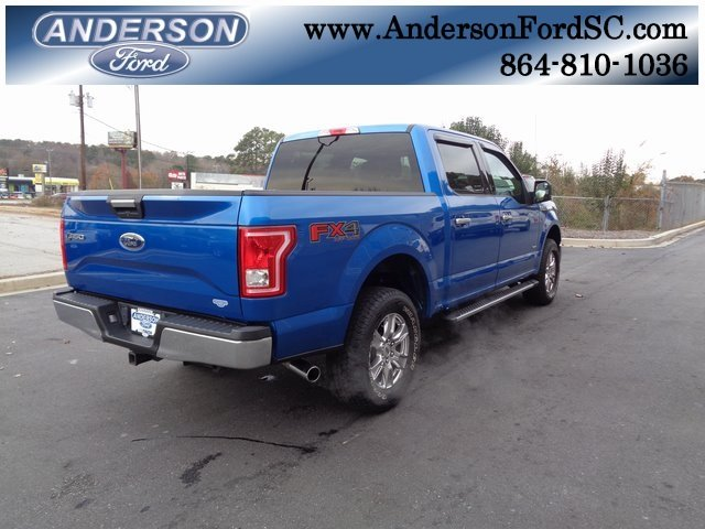 2016 Blue / Gray Ford F-150 XLT Automatic 4 Door Truck