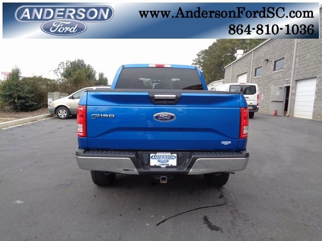 2016 Blue / Gray Ford F-150 XLT 4 Door 4X4 EcoBoost 3.5L V6 GTDi DOHC 24V Twin Turbocharged Engine Automatic Truck
