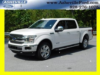 2018 White Metallic Ford F-150 Lariat Truck 4X4 4 Door Automatic