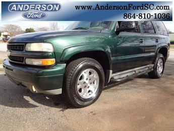 2003 Dark Green Metallic Chevy Tahoe Z71 SUV Vortec 5.3L V8 SFI Bi-Fuel Engine Automatic 4 Door 4X4