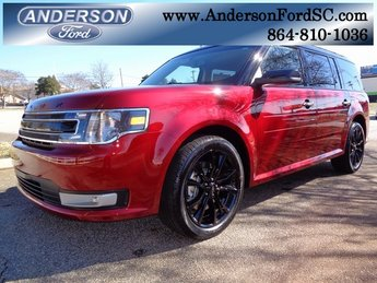 2019 Ruby Red Metallic Tinted Clearcoat Ford Flex SEL FWD SUV 3.5L V6 Ti-VCT Engine