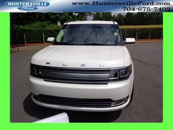 2018 White Platinum Clearcoat Metallic Ford Flex Limited 4 Door FWD 3.5L V6 Ti-VCT Engine SUV Automatic