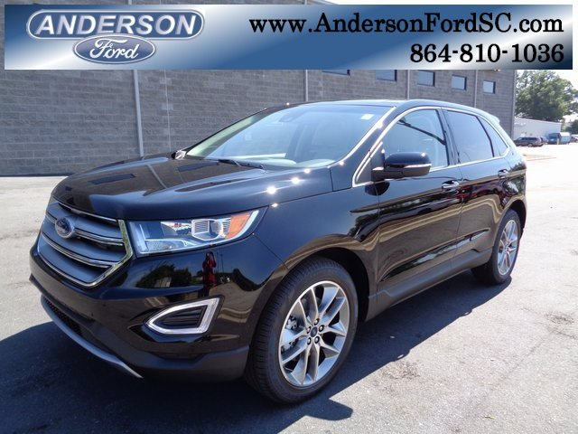 2018 Shadow Black Ford Edge Titanium Automatic 4 Door SUV FWD 3.5L V6 Ti-VCT Engine