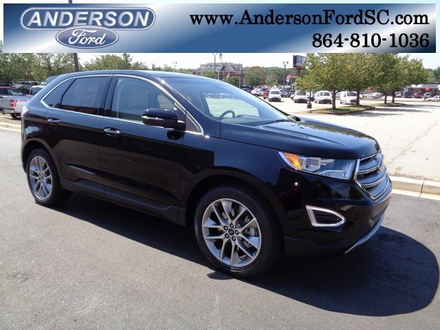 2018 Shadow Black Ford Edge Titanium Automatic FWD 4 Door 3.5L V6 Ti-VCT Engine