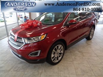 2018 Ruby Red Metallic Tinted Clearcoat Ford Edge Titanium 4 Door Automatic SUV 3.5L V6 Ti-VCT Engine