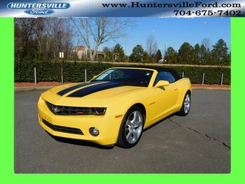 2012 Rally Yellow Chevy Camaro 2LT 3.6L V6 DGI DOHC VVT Engine 2 Door Automatic RWD Convertible