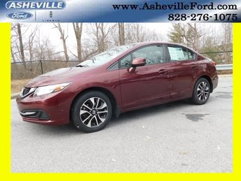 2013 Crimson Pearl Honda Civic EX Sedan 1.8L I4 SOHC 16V i-VTEC Engine 4 Door