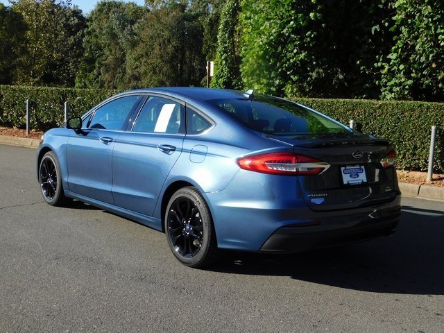 2019 Blue Metallic Ford Fusion SE Automatic EcoBoost 1.5L I4 GTDi DOHC Turbocharged VCT Engine FWD 4 Door