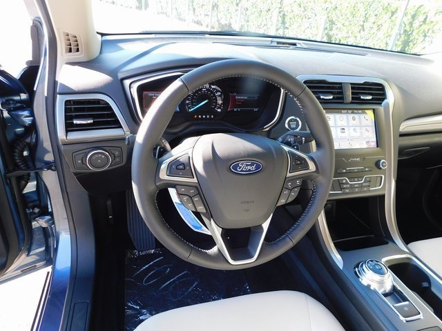 2019 Blue Metallic Ford Fusion SE 4 Door EcoBoost 1.5L I4 GTDi DOHC Turbocharged VCT Engine Automatic FWD Sedan