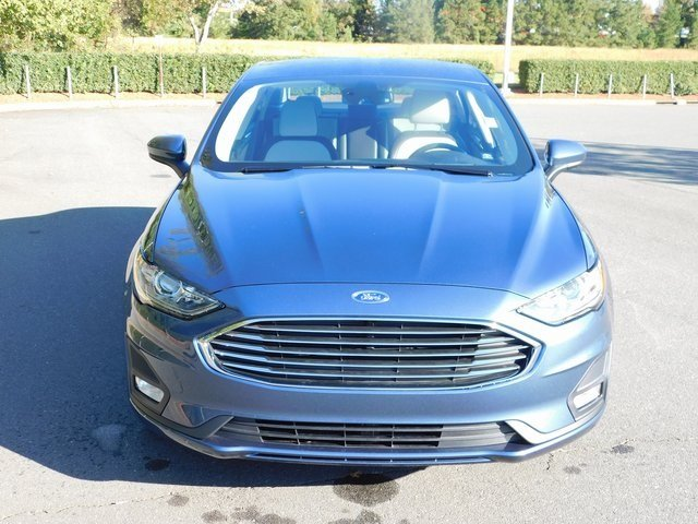 2019 Blue Metallic Ford Fusion SE EcoBoost 1.5L I4 GTDi DOHC Turbocharged VCT Engine FWD Sedan 4 Door Automatic