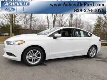 2018 Oxford White Ford Fusion SE EcoBoost 1.5L I4 GTDi DOHC Turbocharged VCT Engine Sedan Automatic 4 Door FWD
