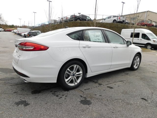 2018 Oxford White Ford Fusion SE 4 Door FWD EcoBoost 1.5L I4 GTDi DOHC Turbocharged VCT Engine Automatic