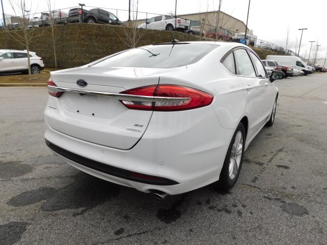 2018 Oxford White Ford Fusion SE 4 Door Automatic FWD Sedan EcoBoost 1.5L I4 GTDi DOHC Turbocharged VCT Engine