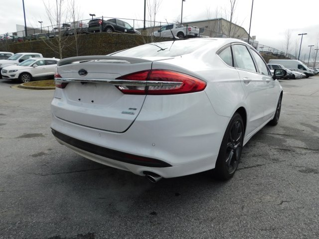 2018 Oxford White Ford Fusion SE Sedan Automatic EcoBoost 1.5L I4 GTDi DOHC Turbocharged VCT Engine 4 Door