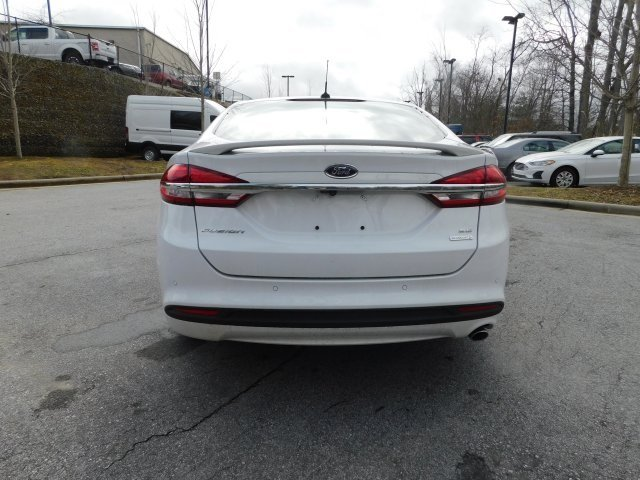 2018 Oxford White Ford Fusion SE FWD Sedan EcoBoost 1.5L I4 GTDi DOHC Turbocharged VCT Engine