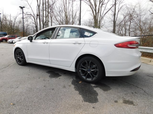 2018 Oxford White Ford Fusion SE Automatic FWD EcoBoost 1.5L I4 GTDi DOHC Turbocharged VCT Engine Sedan