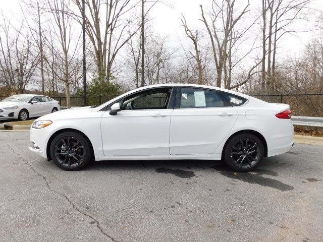2018 Oxford White Ford Fusion SE Automatic Sedan EcoBoost 1.5L I4 GTDi DOHC Turbocharged VCT Engine 4 Door