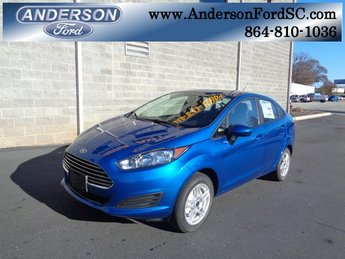 2019 Lightning Blue Metallic Ford Fiesta SE 1.6L I4 Ti-VCT Engine FWD Automatic 4 Door Sedan