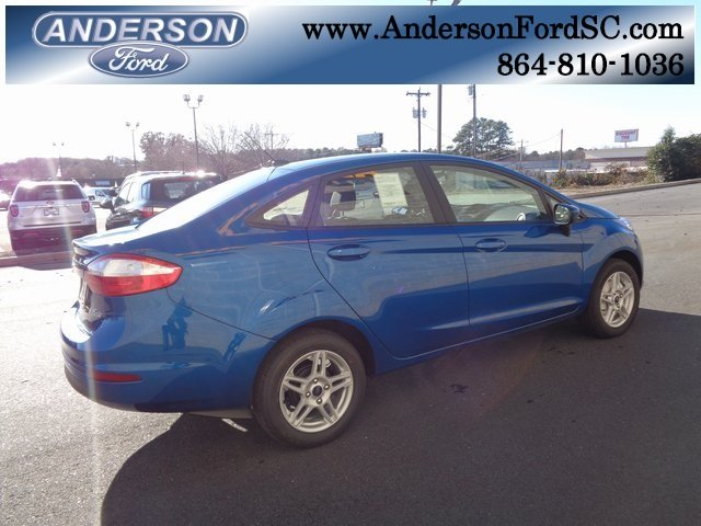 2019 Lightning Blue Metallic Ford Fiesta SE Sedan 4 Door FWD 1.6L I4 Ti-VCT Engine