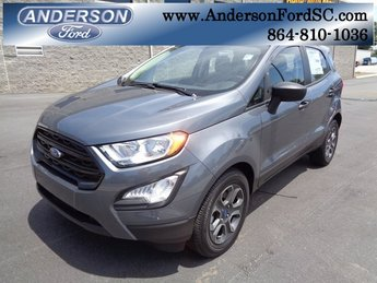 2018 Smoke Metallic Ford EcoSport S FWD 4 Door EcoBoost 1.0L I3 GTDi DOHC Turbocharged VCT Engine Automatic