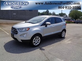 2018 Moondust Silver Metallic Ford EcoSport SE 4 Door EcoBoost 1.0L I3 GTDi DOHC Turbocharged VCT Engine FWD Automatic SUV