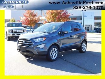 2018 Smoke Metallic Ford EcoSport SE EcoBoost 1.0L I3 GTDi DOHC Turbocharged VCT Engine FWD SUV Automatic 4 Door