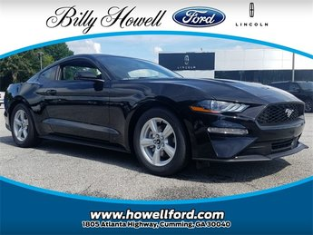 2018 Shadow Black Ford Mustang EcoBoost EcoBoost 2.3L I4 GTDi DOHC Turbocharged VCT Engine Coupe Automatic