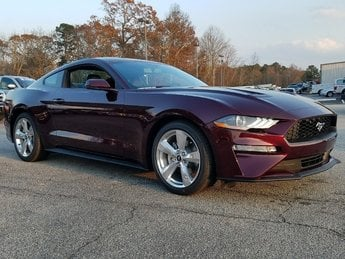 2018 Royal Crimson Ford Mustang Ecoboost Premium 2.3L EcoBoost Engine RWD Automatic