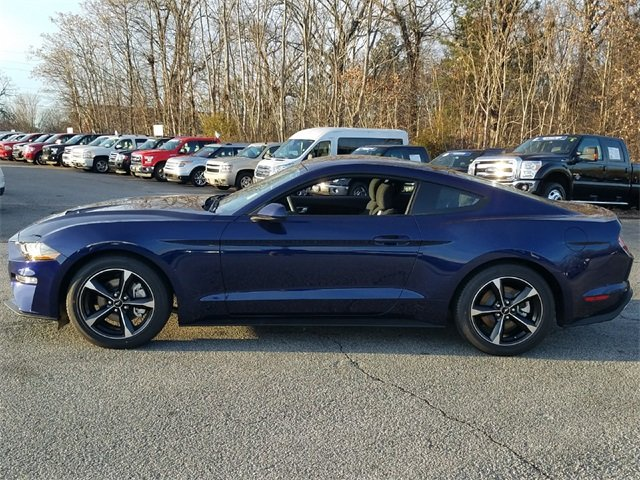 2018 Kona Blue Metallic Ford Mustang EcoBoost Automatic Coupe 2 Door RWD EcoBoost 2.3L I4 GTDi DOHC Turbocharged VCT Engine