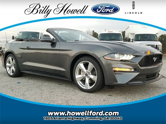 2018 Ford Mustang EcoBoost Premium Convertible Automatic 2 Door EcoBoost 2.3L I4 GTDi DOHC Turbocharged VCT Engine RWD