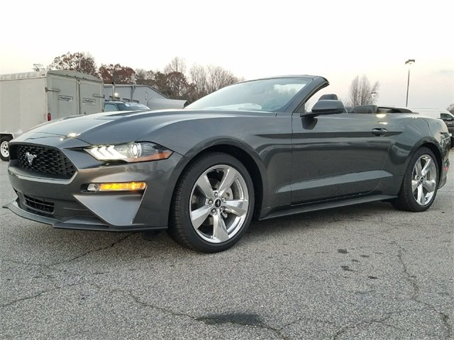 2018 Magnetic Ford Mustang EcoBoost Premium EcoBoost 2.3L I4 GTDi DOHC Turbocharged VCT Engine Automatic Convertible