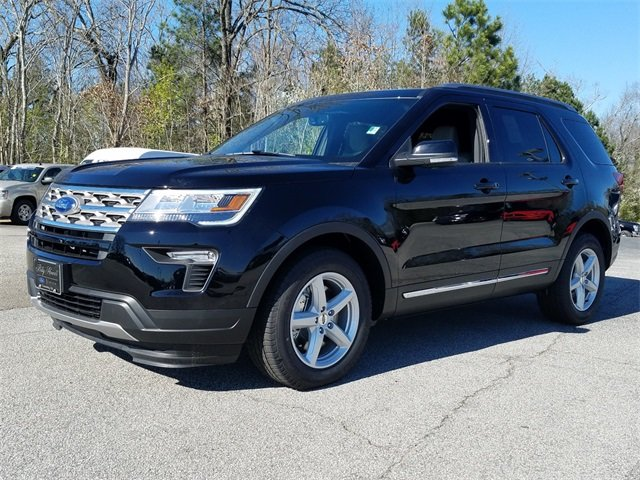 2018 Shadow Black Ford Explorer XLT Automatic 4 Door SUV 3.5L Ti-VCT V6 Engine FWD