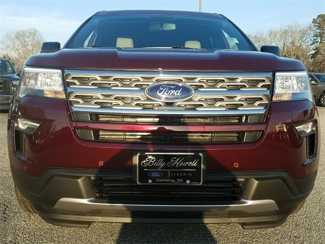 2018 Burgundy Velvet Metallic Tinted Clearcoat Ford Explorer XLT 3.5L Ti-VCT V6 Engine 4 Door Automatic SUV