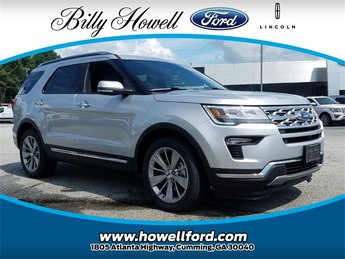 2018 Ingot Silver Metallic Ford Explorer Limited SUV Automatic 4 Door 3.5L V6 Ti-VCT Engine FWD