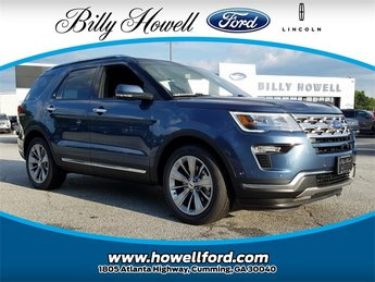2018 Blue Metallic Ford Explorer Limited 4 Door 3.5L V6 Ti-VCT Engine SUV Automatic