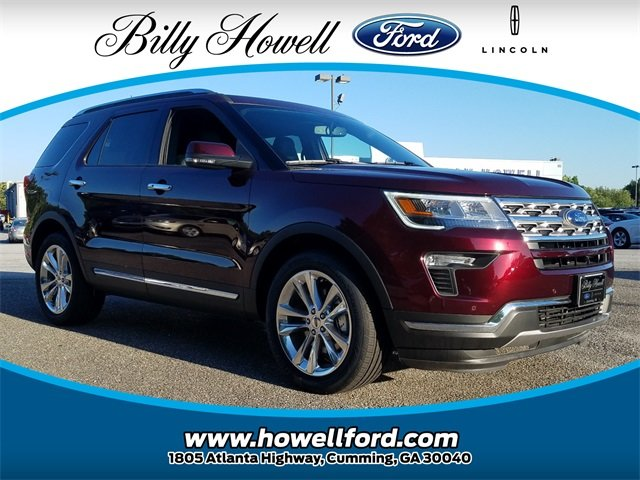 2018 Burgundy Velvet Metallic Tinted Clearcoat Ford Explorer Limited SUV Automatic FWD 3.5L V6 Ti-VCT Engine 4 Door